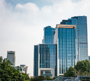 Group of tall buildings