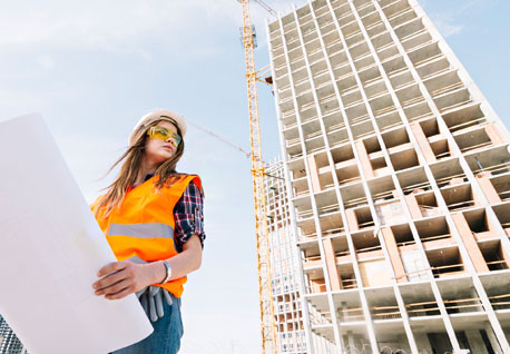 Woman engineer at a job site
