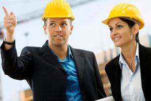 Man and woman engineers